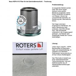 Prüfbericht X270 HEPA Membranfiler 01 250x250 - Neue HEPA H-13 Filter für die Estrich-Dammschicht-Trocknung
