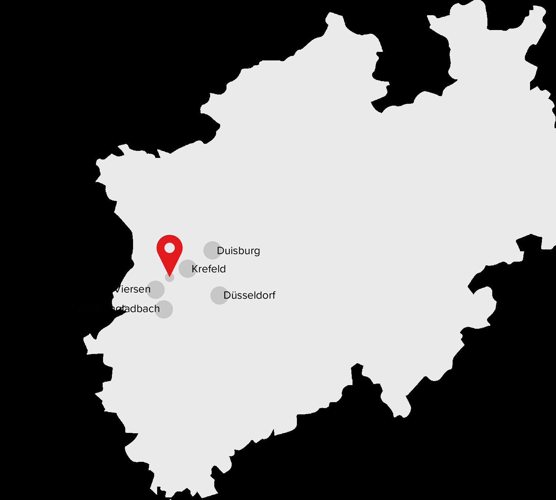 NRW Standortkarte