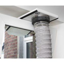 Roters - Fensterabluftdüse TA 160 mit Adapter-Set - Fensterabluftdüse für Klimagerät / Klimaanlage - Bild 02