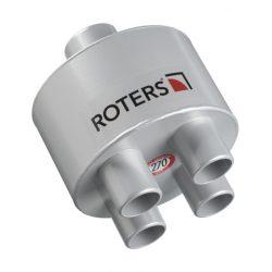 Roters - Luftverteiler 4 x 38 auf 50 - Verteiler aus Aluminium zur Unterverteilung von Überdruckanlagen und Turbinen - Bild 01