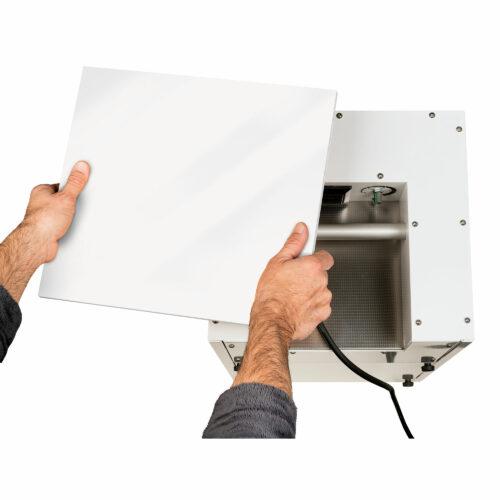 Roters - Holzdeckel Weiß Hochglanz für XG 500 u. 800 Profi H14 - Zusatzdeckel für den Luftreiniger XG 500 Profi - Bild 01