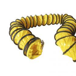Roters - Lufttransportschlauch 100 mm/10 m - Gelber Schlauch aus PVC mit Stahlspiralen zum Transport von Luft - Bild 01