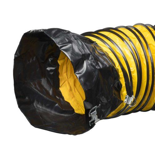 6 m - Gelber Schlauch aus PVC mit Stahlspiralen zum Transport von Luft - Bild 01