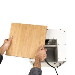 Aktivkohlefilter und Buchen Holzplatte - Bild 01