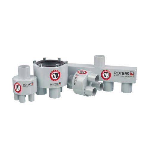 Roters - Luftverteiler 3 x 38 auf 50 - Verteiler aus Aluminium zur Unterverteilung von Überdruckanlagen und Turbinen - Bild 02