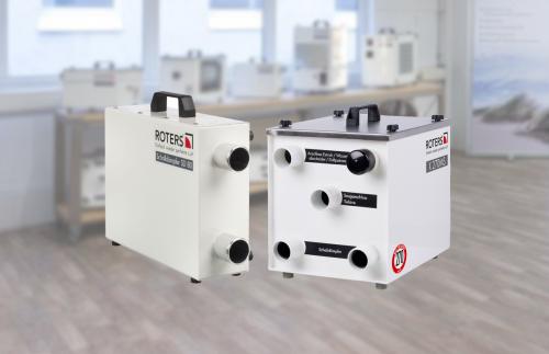 schalldämpfer und x270ms showroom 500x323 - Der HEPA H14 Filter zur mobilen Raumluft-Filtrierung