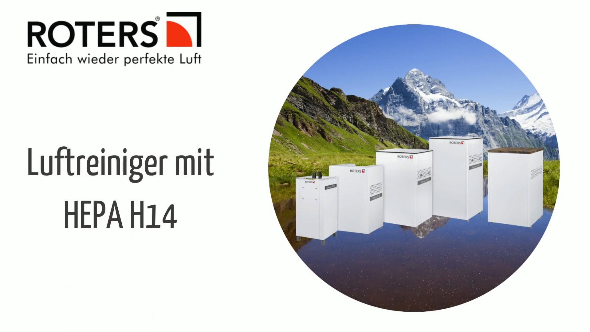Roters HEPA H14 Luftreiniger für eine effektive Reinigung der Raumluft