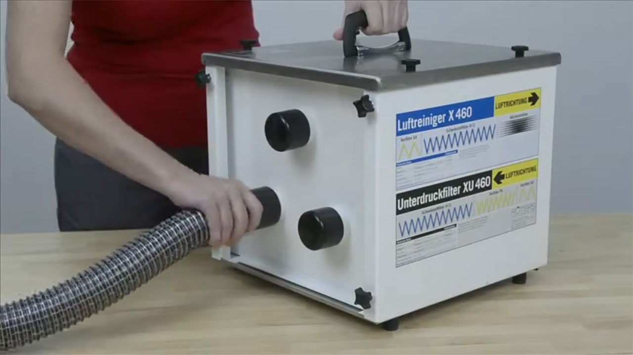 ROTERS Luftreiniger XG460, X460, X180 Unterdruckfilter