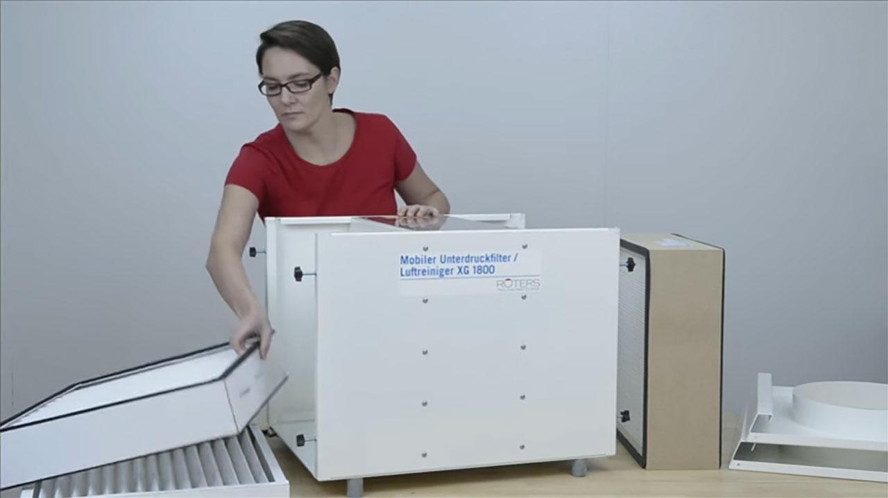 ROTERS Luftreiniger Unterdruckhaltegerät XG 1800